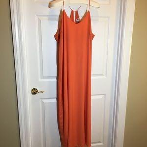 Old Navy Orange Maxi Dress Size XXL